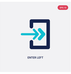 Two color enter left icon from arrows concept vector