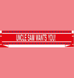 uncle sam wants you banner eps 10 vector image