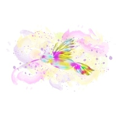 Watercolor bird vector