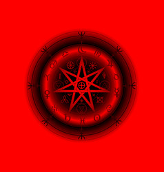 Wiccan symbol protection 3d red mandala vector