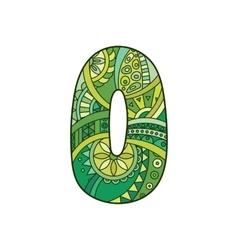 Zentangle number decorative number vector image