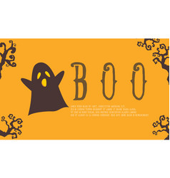 Cute ghost background for halloween vector