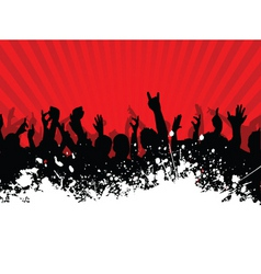 grunge crowd vector image