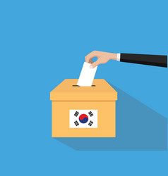korea election vote concept with vector image vector image