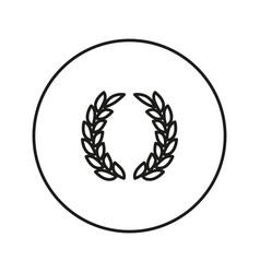 laurel wreath victory icon vector image