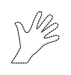 pictogram hand sticker vector image