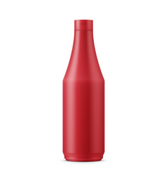 red ketchup template vector image vector image