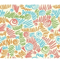 Seamless abstract hand-drawn waves pattern wavy vector image vector image