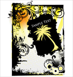 summer grunge banner vector image
