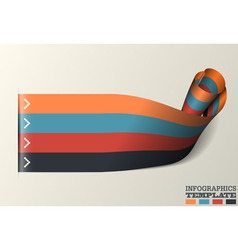 Twisted Ribbon Infographics Template vector image