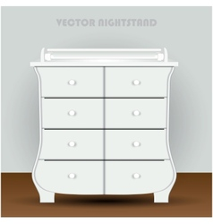 Vintage table on white background vector image vector image