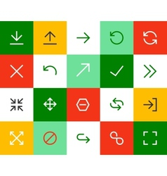 Arrows and signs Flat vector image