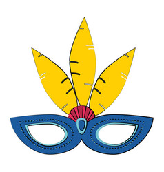 carnival mask with string icon image vector image