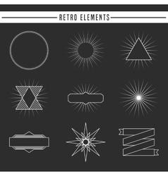 retro elements design vector image