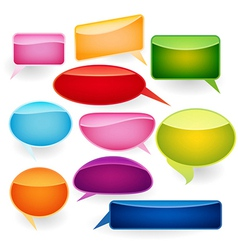 Speech bubbles of traditional and original forms vector image vector image