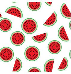 Water melon seamless pattern vector