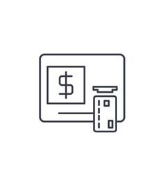 atm banking dollar cash card money finance vector image vector image