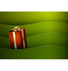 christmas background green stripe wave vector image