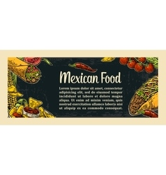 Mexican traditional food restaurant menu template vector image