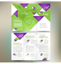 Brochure folder leaflet geometric triangle origami vector