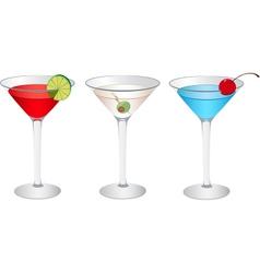 Cosmopolitan Martini vector image vector image