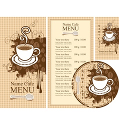 Design for the cafe vector