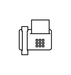 fax icon vector image vector image