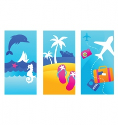 summer vacation banners vector image vector image