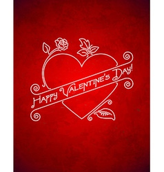 Vintage grungy Valentines Day card vector image vector image