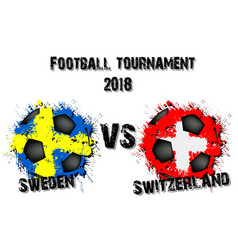 4302 - sweden vs south korea vector image
