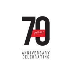 70 years anniversary celebrating template design vector