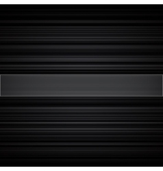Abstract retro striped black and grey background vector image