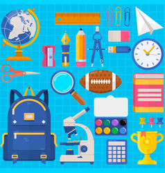 back to school bag pupil or student training vector image