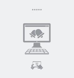 bell alert computer application vector image