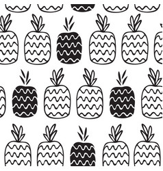 black-and-white pattern of the pineapple vector image