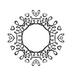 Black luxury monogram template vector