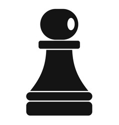 Black pawn piece icon simple style vector