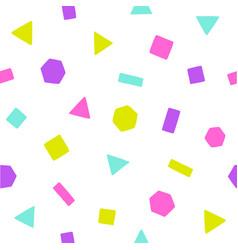 Bright geometric figures vector