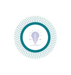 bulb creative solution light pencil glyph icon vector image