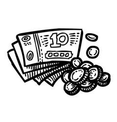 Cartoon image of cash icon money symbol vector
