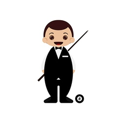Cartoon snooker player vector
