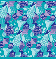 chaotic geometric seamless pattern vector image
