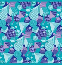 Chaotic geometric seamless pattern vector