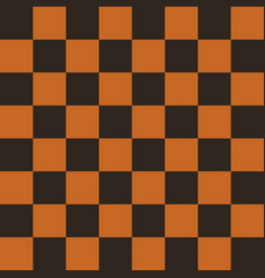 Chess field in black and orange colors vector