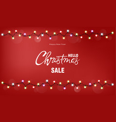 Christmas sale greeting card vector