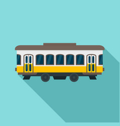 city old tram icon flat style vector image
