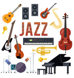 classical jazz performance musical instruments vector image