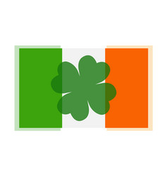 clover leaf on flag element background for happy vector image