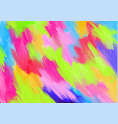 Colorful fluorescent color hand painted abstract vector
