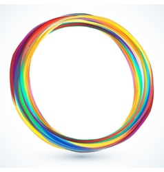 Colorful round 3d frame vector image vector image